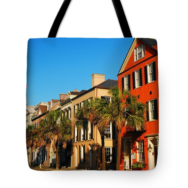 Charleston Painted Row Tote Bag