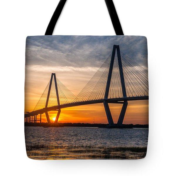 Charleston Sun Setting  Tote Bag