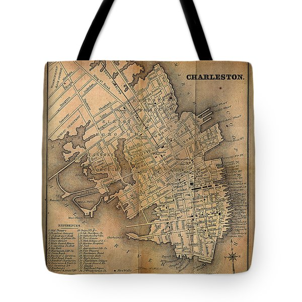 Charleston Vintage Map No. I Tote Bag