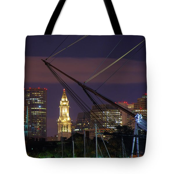 Charlestown Navy Yard And The Custom House Tote Bag by Joann Vitali