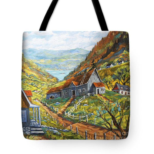 Charlevoix Valley By Prankearts Tote Bag by Richard T Pranke