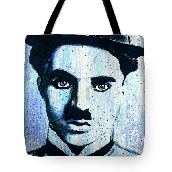 Charlie Chaplin Little Tramp Portrait Tote Bag
