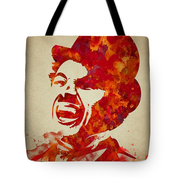 Charlie Chaplin Watercolor Painting Tote Bag