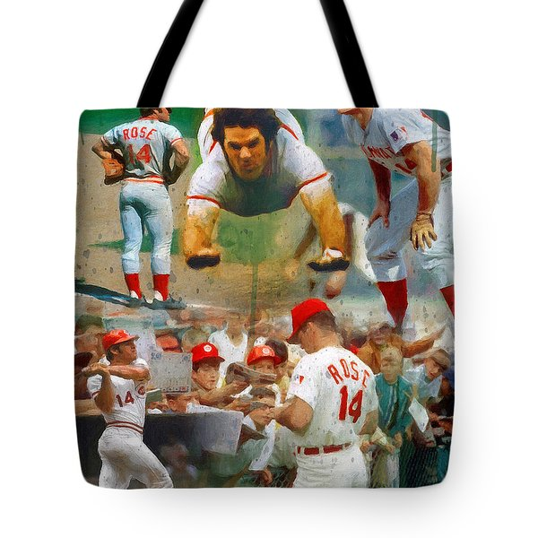 Charlie Hustle A Collage Tote Bag