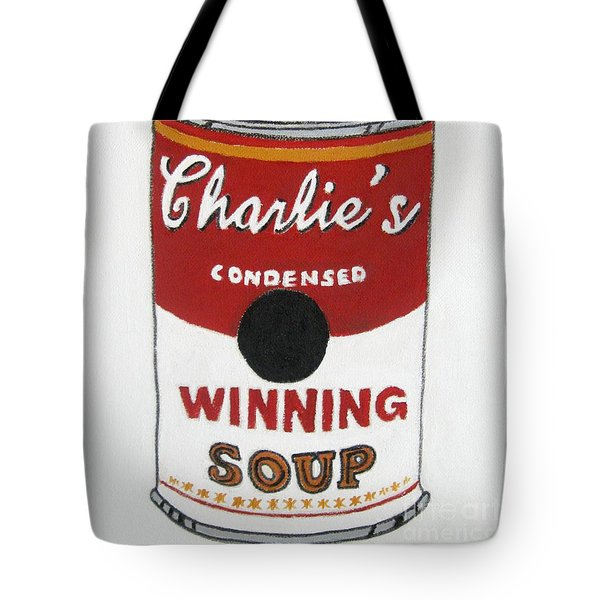 Charlie Sheen Soup Tote Bag by Venus
