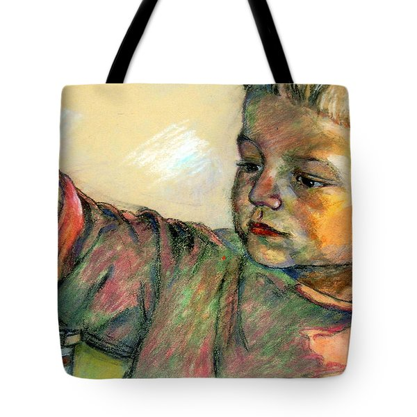 Tote Bag featuring the drawing Charlie by Stan Esson