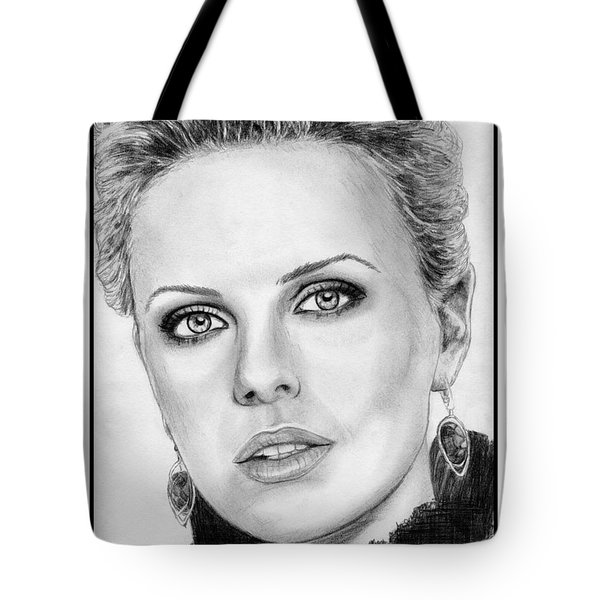 Charlize Theron In 2008 Tote Bag by J McCombie
