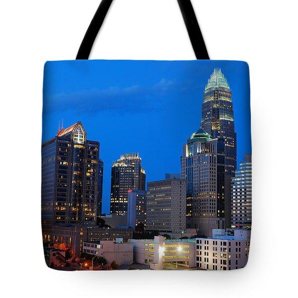 Charlotte At Night Tote Bag by James Kirkikis