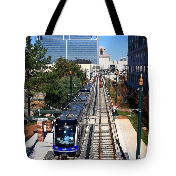 Charlotte Light Rail Tote Bag