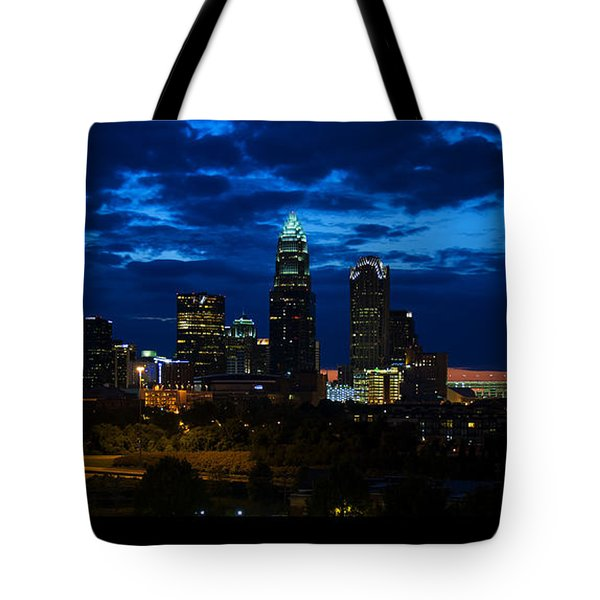 Charlotte North Carolina Panoramic Image Tote Bag