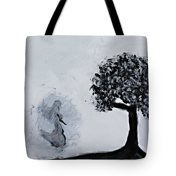 Tote Bag featuring the painting Charlotte's Grave by Lola Connelly