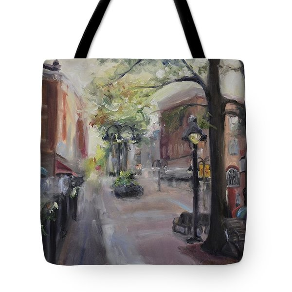 Charlottesville's Historic Downtown Mall Tote Bag by Donna Tuten