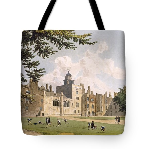 Charter House From The Play Ground Tote Bag by William Westall