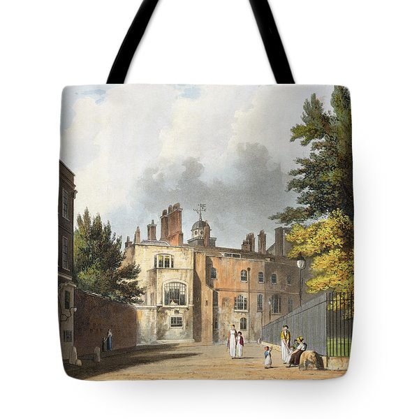 Charter House From The Square Tote Bag by William Westall
