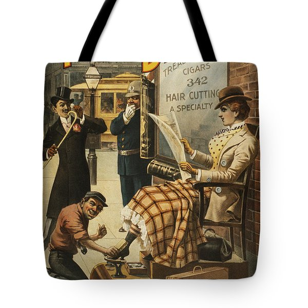 Chase That Away Boy Tote Bag by Aged Pixel