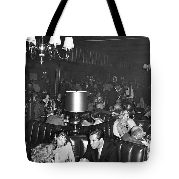 Chasen's Hollywood Restaurant Tote Bag by Underwood Archives