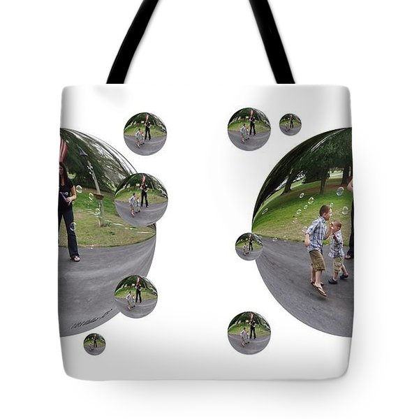 Chasing Bubbles - Cross Your Eyes And Focus On The Middle Image That Appears Tote Bag by Brian Wallace