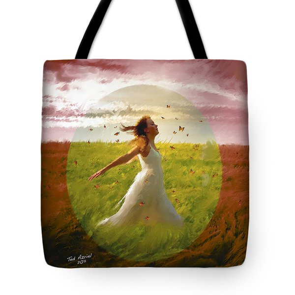Chasing Butterflies Tote Bag by Ted Azriel