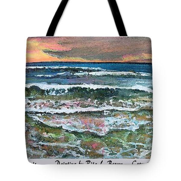 Tote Bag featuring the painting Chasing Chatham Beach Sunsets by Rita Brown