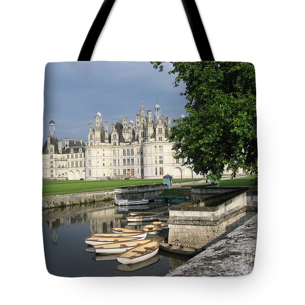 Tote Bag featuring the photograph Chateau Chambord Boating by HEVi FineArt