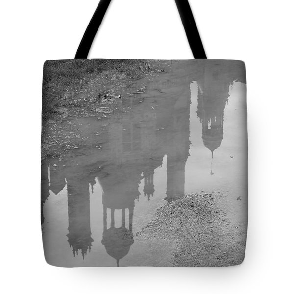 Tote Bag featuring the photograph Chateau Chambord Reflection by HEVi FineArt