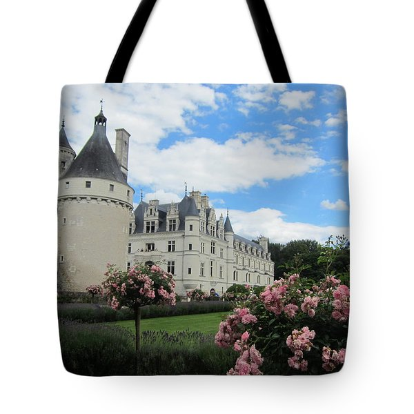 Chateau Chenonceau Tote Bag by Pema Hou