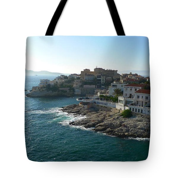 Chateau D'if Bay Of Marseille Tote Bag