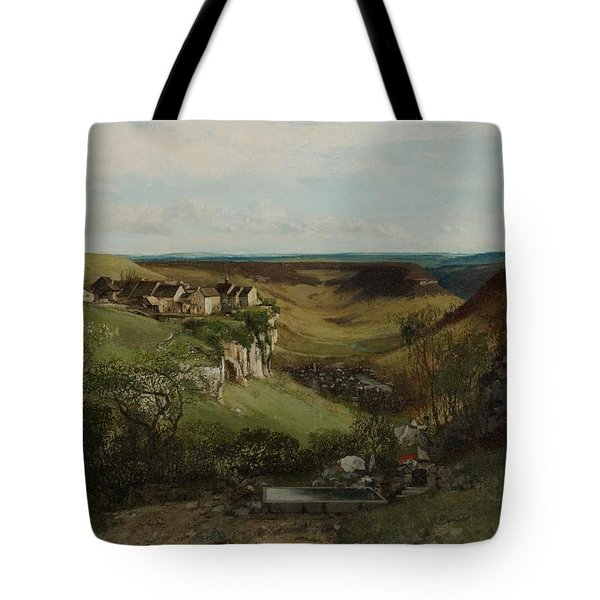 Chateau Dornans Tote Bag by Gustave Courbet