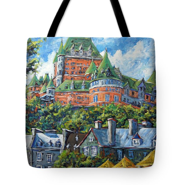 Chateau Frontenac By Prankearts Tote Bag