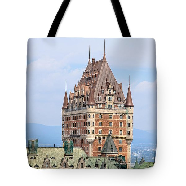Chateau Frontenac Quebec City Canada Tote Bag by Edward Fielding