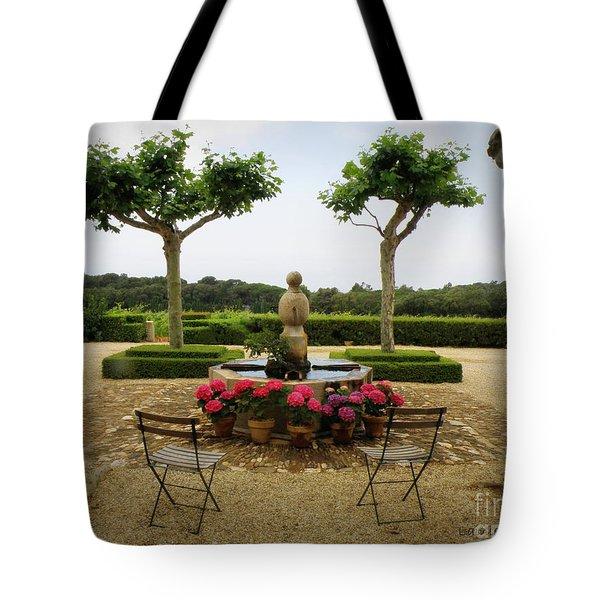 Chateau Malherbe Fountain Tote Bag by Lainie Wrightson