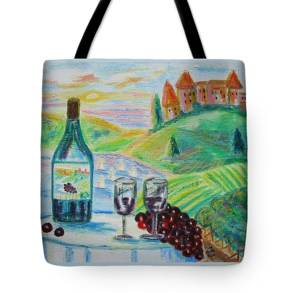 Chateau Wine Tote Bag