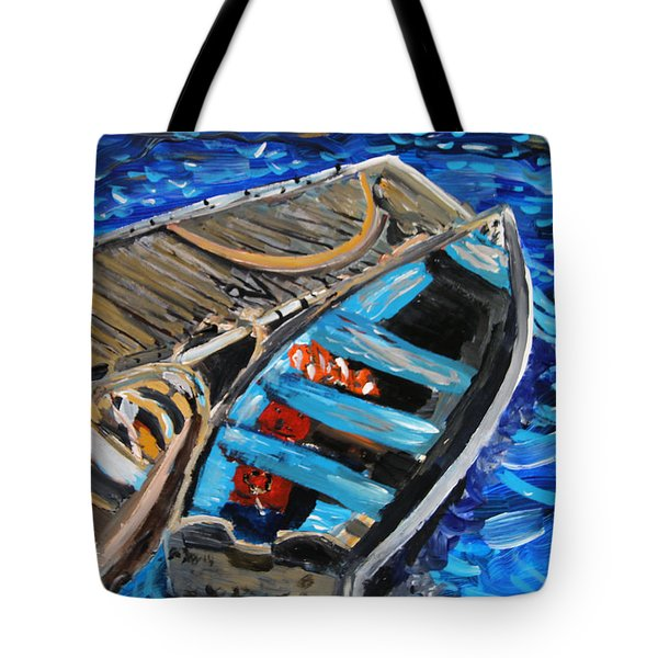 Chatham Blue Tote Bag by Michael Helfen