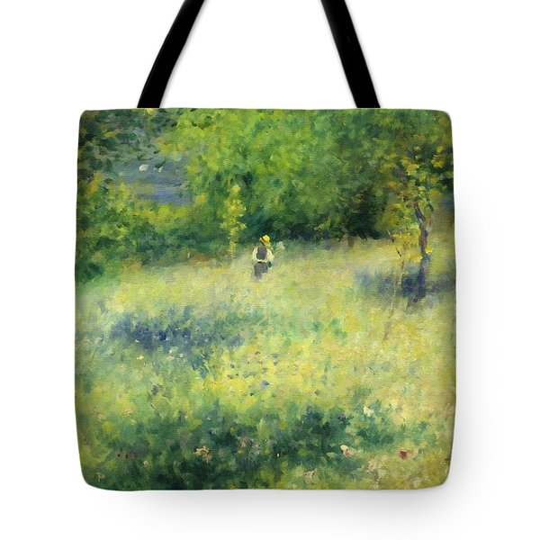 Tote Bag featuring the painting Chatou After Renoir by Isabella Howard