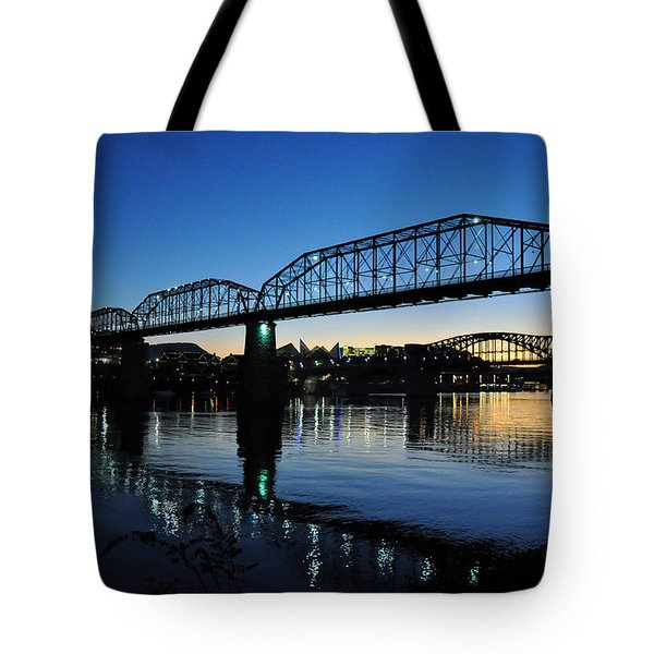Tennessee River Bridges Chattanooga Tote Bag