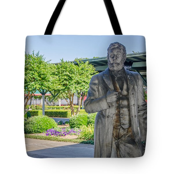 Tote Bag featuring the photograph Chattanooga Choo Choo Court Yard by Susan  McMenamin