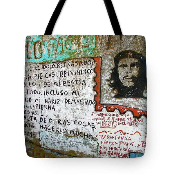 Tote Bag featuring the photograph Che Guevara by Ramona Johnston