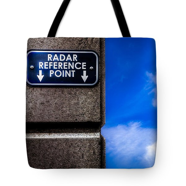 Check Your  Radar Here Tote Bag by Bob Orsillo