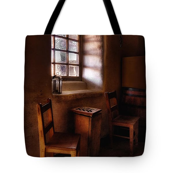 Checkers At Bent's Old Fort Tote Bag by Priscilla Burgers