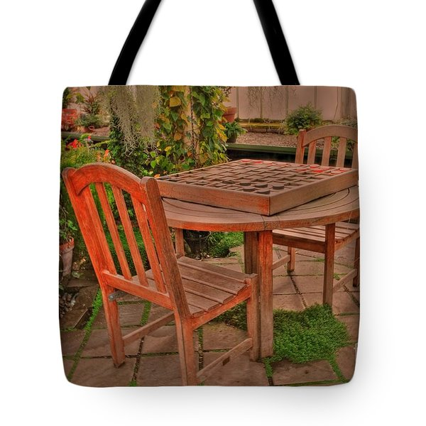 Checkers Tote Bag by Kathleen Struckle