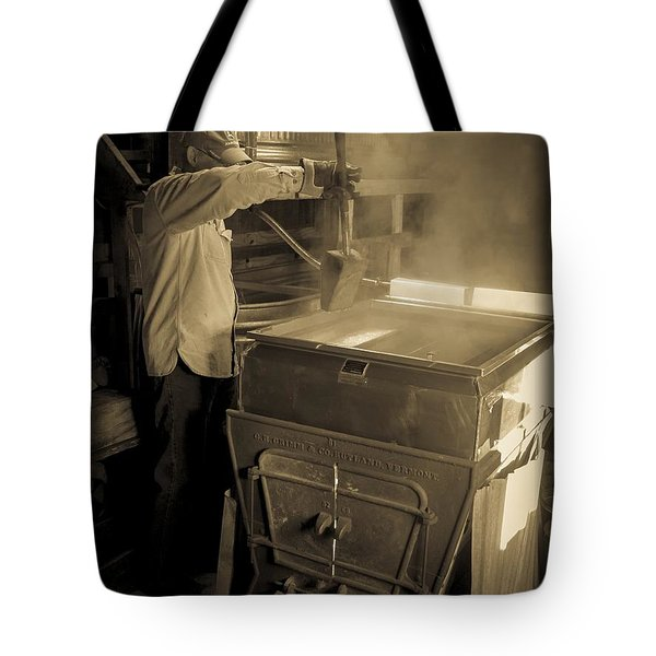 Checking The Maple Syrup Tote Bag by Edward Fielding
