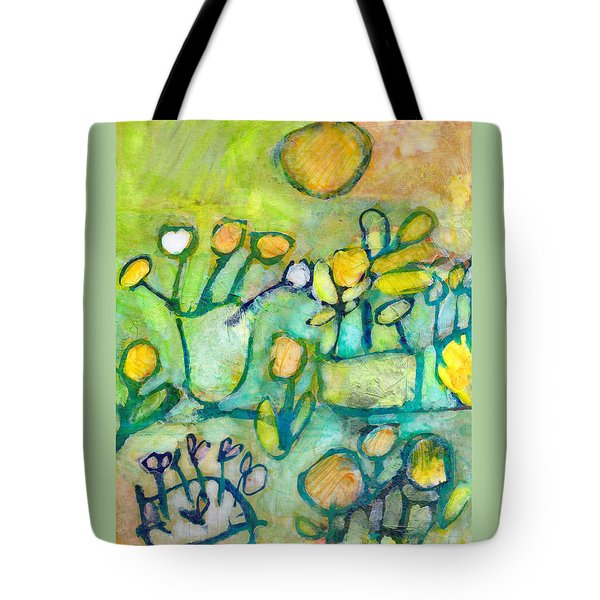 Cheerful Garden Tote Bag by Catherine Redmayne