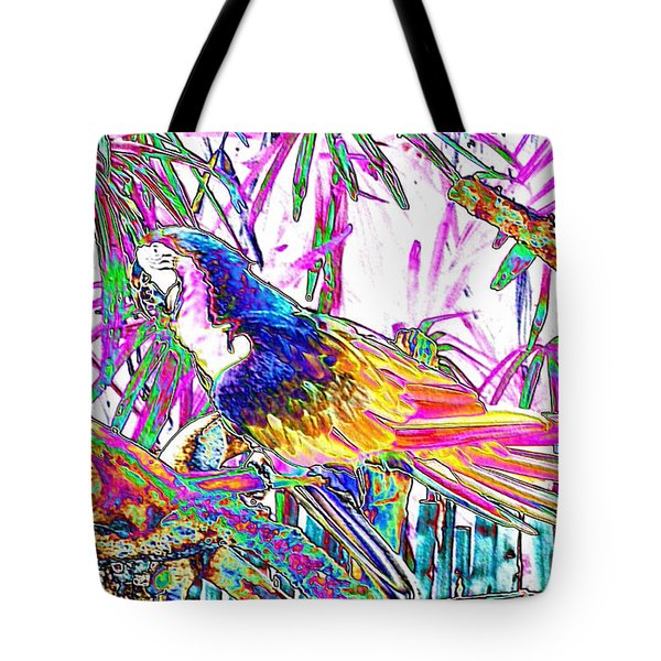 Cheerful Parrot. Colorful Art Collection. Promotion - August 2015 Tote Bag