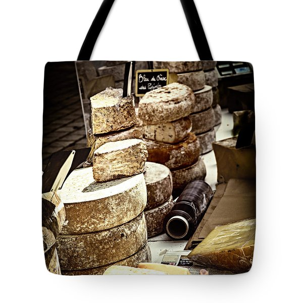 Cheeses On The Market In France Tote Bag by Elena Elisseeva