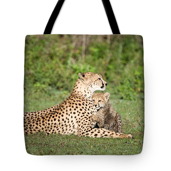Cheetah Cub Acinonyx Jubatus Playing Tote Bag