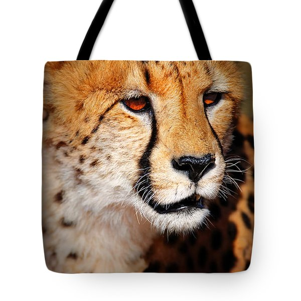 Cheetah Portrait Tote Bag by Johan Swanepoel
