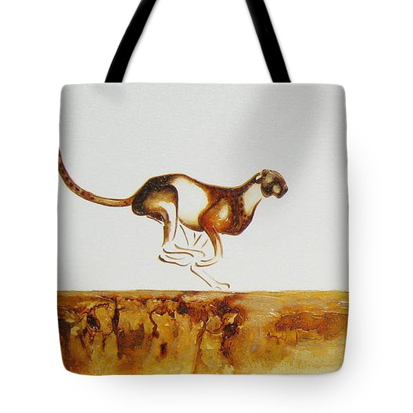 Cheetah Race - Original Artwork Tote Bag