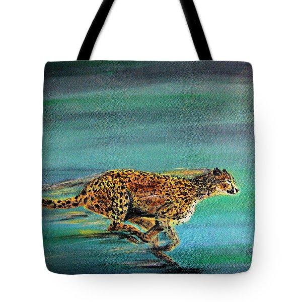Cheetah Run Tote Bag