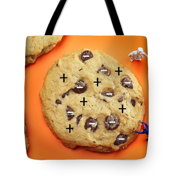 Tote Bag featuring the photograph Chef Depicting Thomson Atomic Model By Cookies Food Physics by Paul Ge
