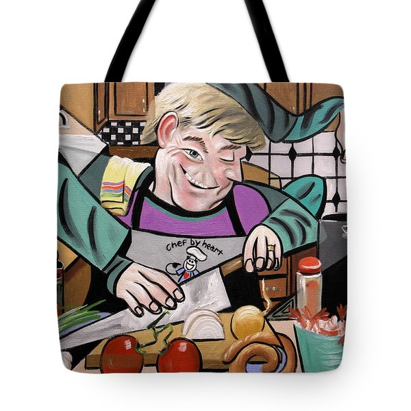 Chef With Heart Tote Bag by Anthony Falbo
